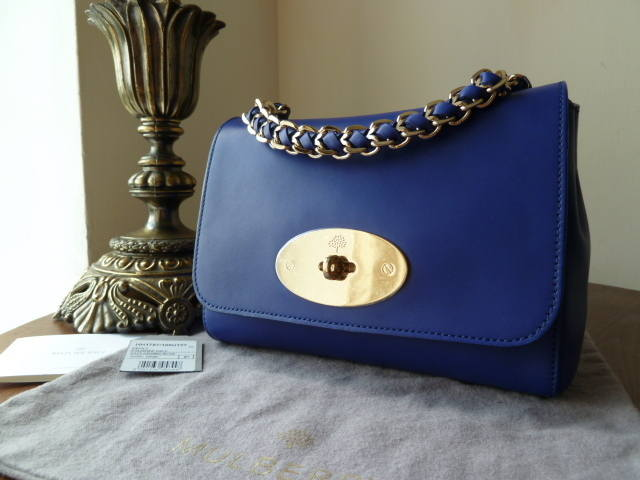 Mulberry Cecily Cosmic Blue Polished Blue NEW