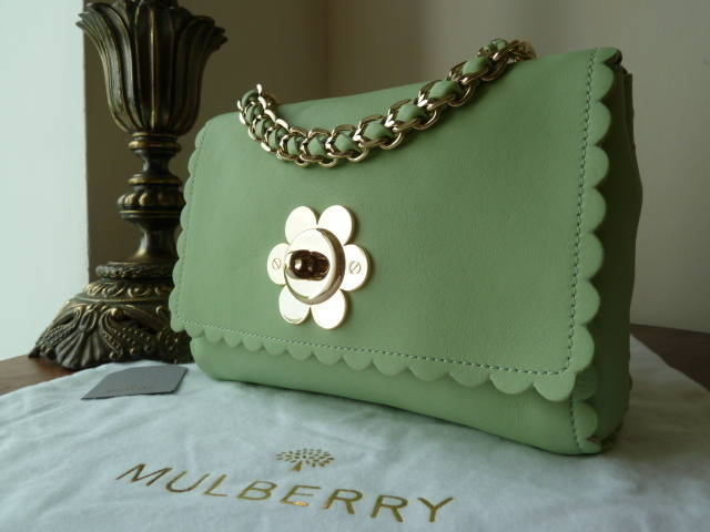 Mulberry Cecily Flower Mint Classic Calf