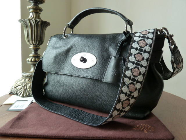 Mulberry Edie Small Shoulder Black Heavy Grain
