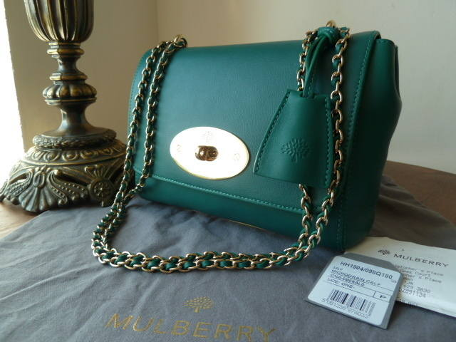 Mulberry Lily Emerald Micrograin Calf NEW