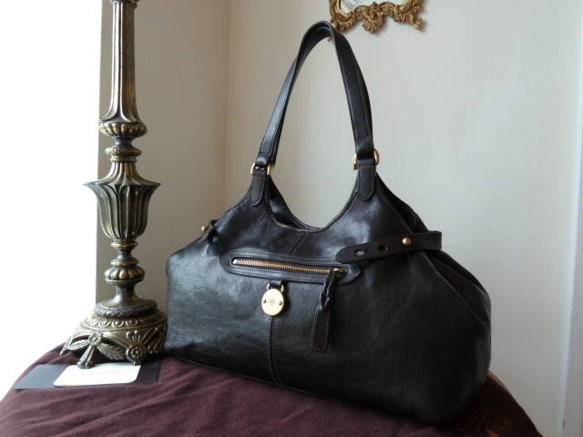Mulberry Somerset Tote Chocolate Natural Leather
