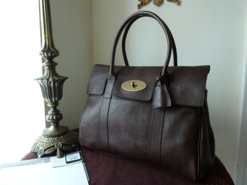 Mulberry Bayswater in Chocolate Natural Leather