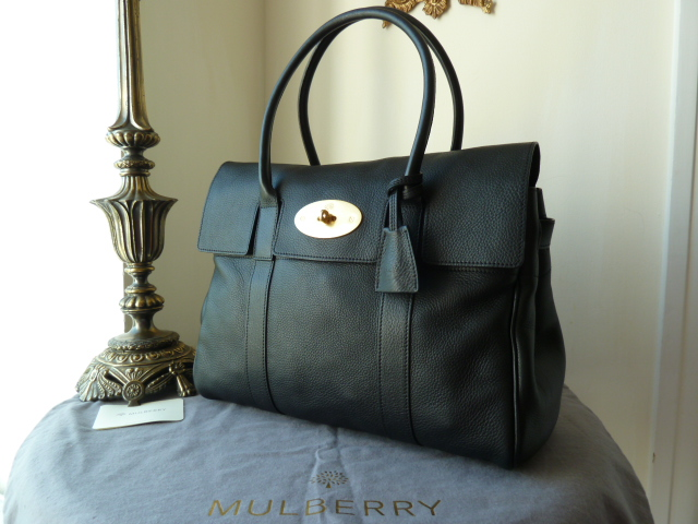 Mulberry Bayswater in Black Natural Leather - New