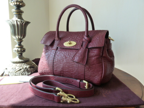 Mulberry Small Bayswater Satchel in Conker Large Grain Nappa Leather
