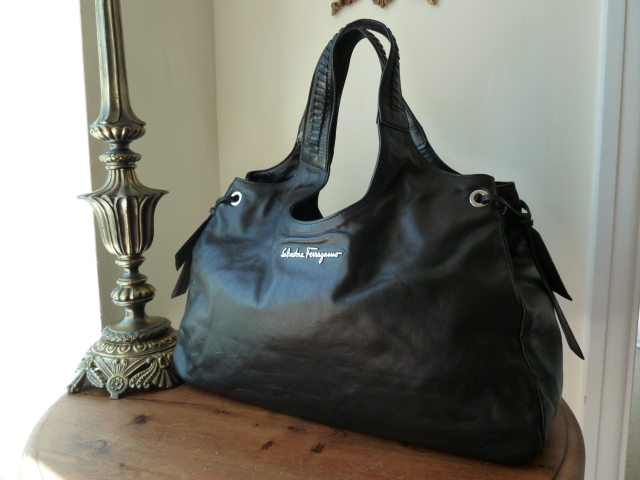 Salvatore Ferragamo Large Chestnut Hobo in Smooth Calf Leather - SOLD