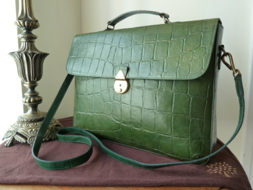 36040bd0b4e5 ... 50% off mulberry briefcase in green congo leather sold 7c396 b7ffc