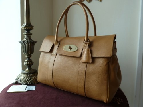 Mulberry Bayswater in Fudge Glossy Buffalo Leather - SOLD