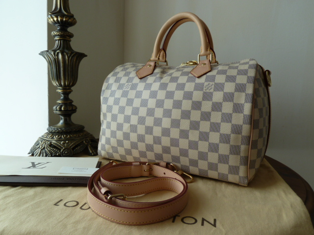Louis Vuitton Speedy Bandouliere 30 in Damier Azure & Base Shaper - New