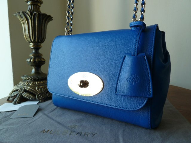 Mulberry Lily in Bluebell Shiny Goat Leather - New