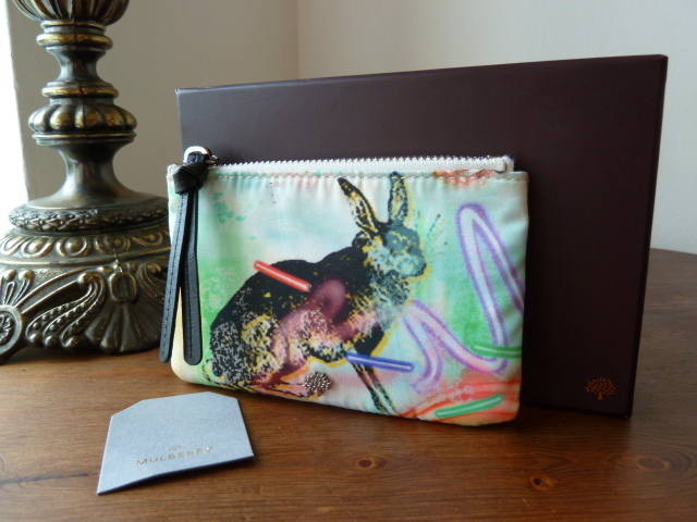 Mulberry Neon Woodland Pouch