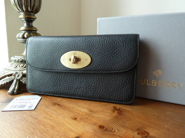 Mulberry Long Locked Purse Black NVT NEW