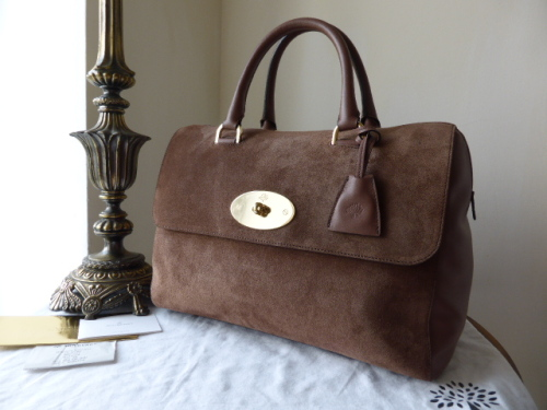 Mulberry Del Rey in Milk Chocolate Suede (Regular Size)