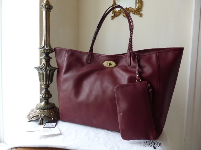 Mulberry Large Dorset Tote in Black Forest Soft Nappa Leather