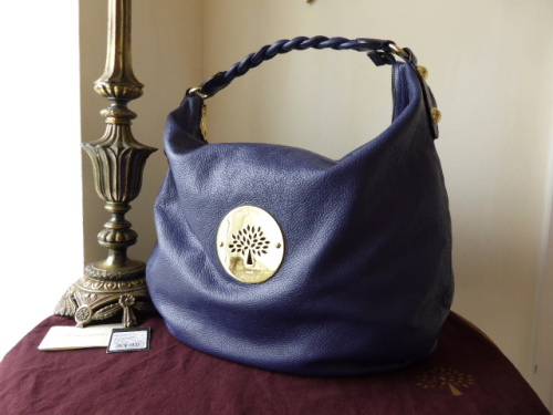 Mulberry Large Daria Hobo in Ink Soft Spongy Leather