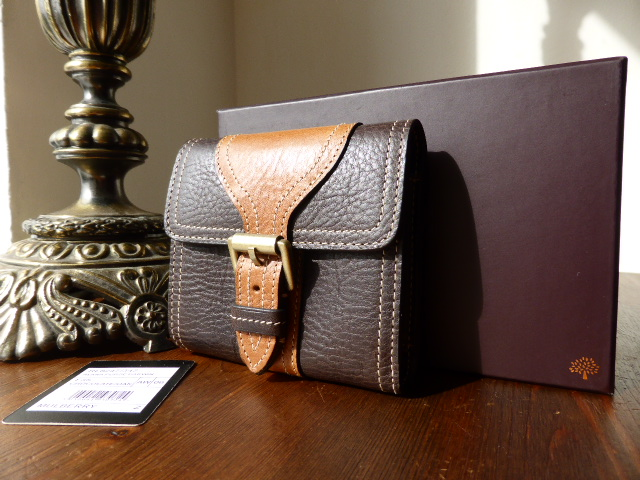 Mulberry Emmy Continental Purse in Chocolate Darwin Leather - New