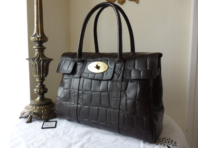 Mulberry Bayswater Special in Chocolate Printed Leather