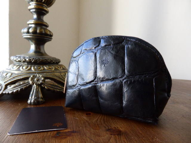 Mulberry Coin Zip Pouch Black Congo