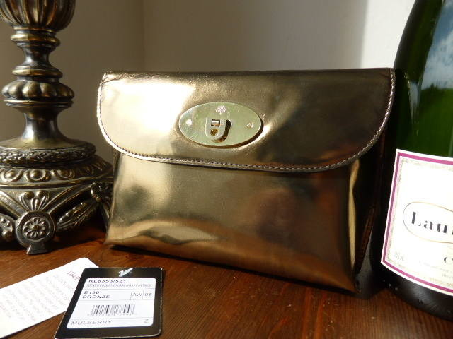 Mulberry Locked Cosmetic Pouch Bronze