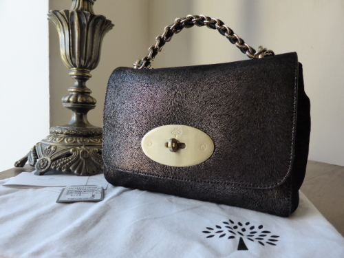 Mulberry Lily with Cecily Chain in Metallic Fur Print - New