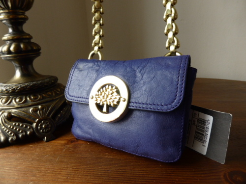 Mulberry Mila Mini Messenger in Electric Blue Soft Matte Leather