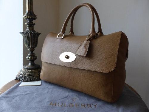 Mulberry Del Rey in Deer Brown Grainy Print Leather (ref 2)