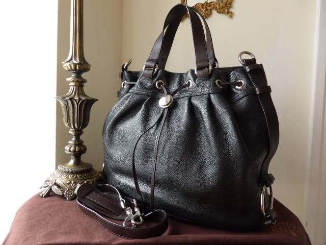 Mulberry Sofia Tote Black Pebbled Leather