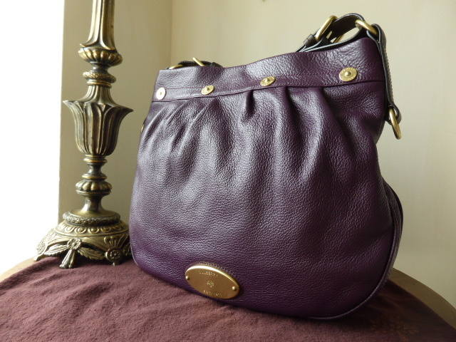 Mulberry Mitzy Messenger Eggplant Pebbled