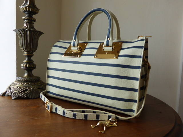 Sophie Hulme Striped Boston NEW