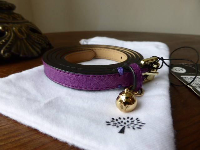 Mulberry Margaret Belt Teapot Charm Plum NEW