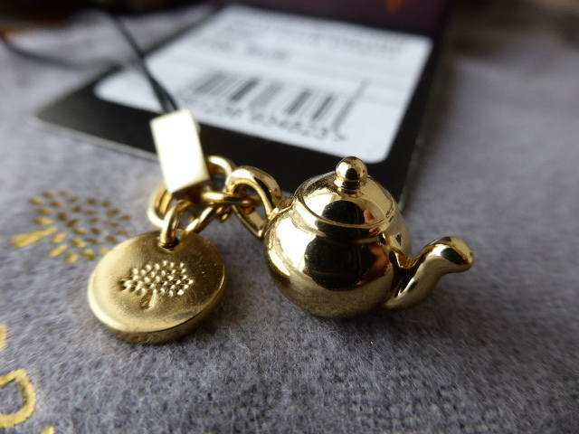 Mulberry Teapot Phone Charm NEW