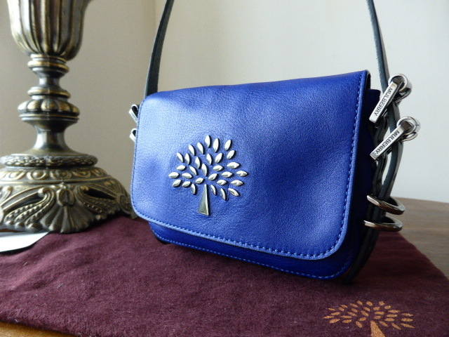 Mulberry Mila Mini Messenger Electric Blue Soft Matte
