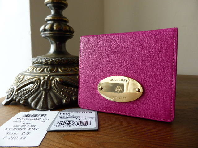 Mulberry ID Purse Pink Glossy Goat