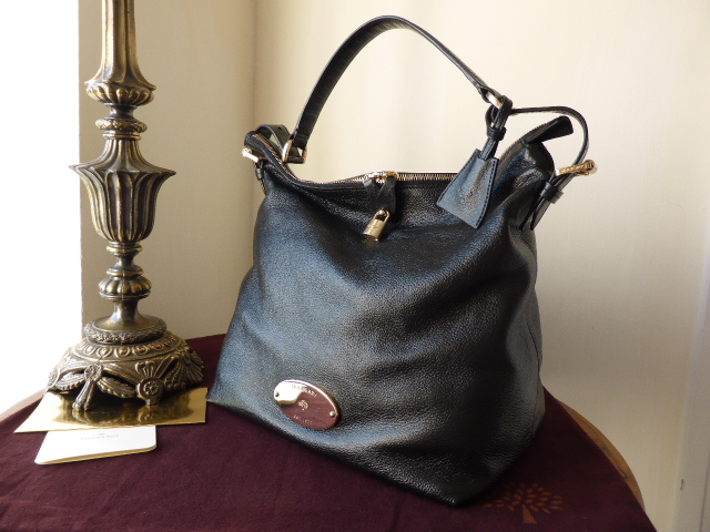 Mulberry Bella Hobo in Black Soft Spongy Leather with Base Shaper