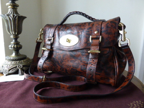 Mulberry Regular Alexa in Shiny Oak Leopard - SOLD