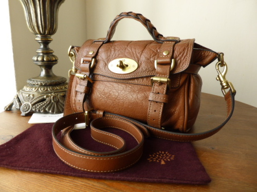 Mulberry Mini Alexa in Oak Soft Buffalo - SOLD