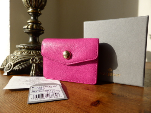 Mulberry ID Purse in Mulberry Pink Glossy Goat - New*