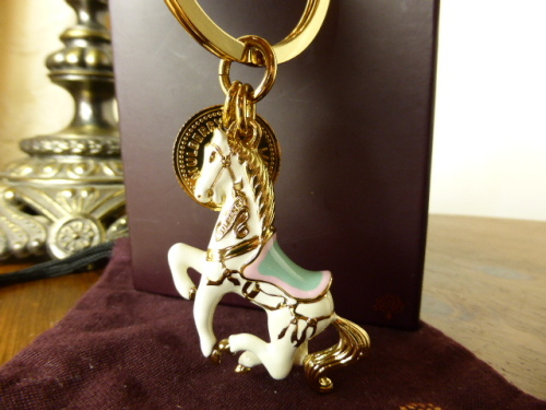Mulberry Carousel Horse Keyring or Bag Charm - New