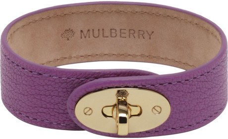 Mulberry Hedgehog Charm Bracelet in Eggplant Soft Goatskin