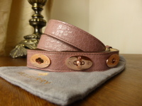 Mulberry Bryn Belt in Blush Shiny Grain Leather with Rose Gold Hardware
