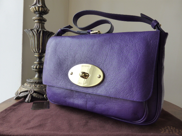 Mulberry Bayswater Shoulder Clutch in Blueberry Glazed Goat