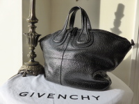 Givenchy Nightingale Medium in Black Pebbled Calf Leather