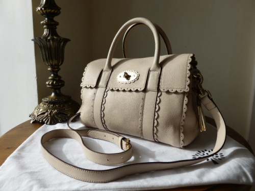 c52f2115cc Mulberry Small Bayswater Satchel Cookie in Pebbled Beige Soft Matte ...