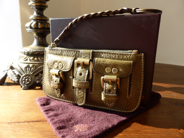 Mulberry Roxanne Coin Purse / Keyring in Lavendar Darwin Leather - SOLD