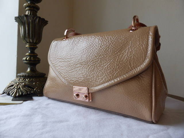 Mulberry Neely Small Shoulder Nude Spongy Patent