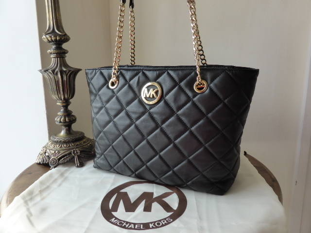 Michael Kors Fulton Quilted Tote in Black As New
