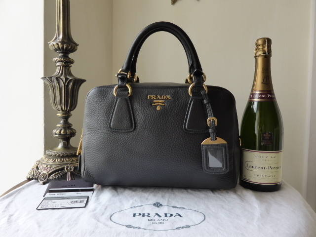 Prada Bauletto Vitello Daino Nero