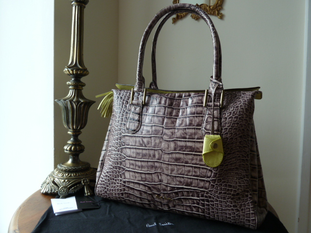 Paul Smith Globe Tote in Crocodile Printed Leather