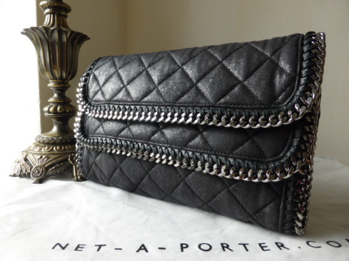Stella McCartney Falabella Quilted Foldover Clutch - New
