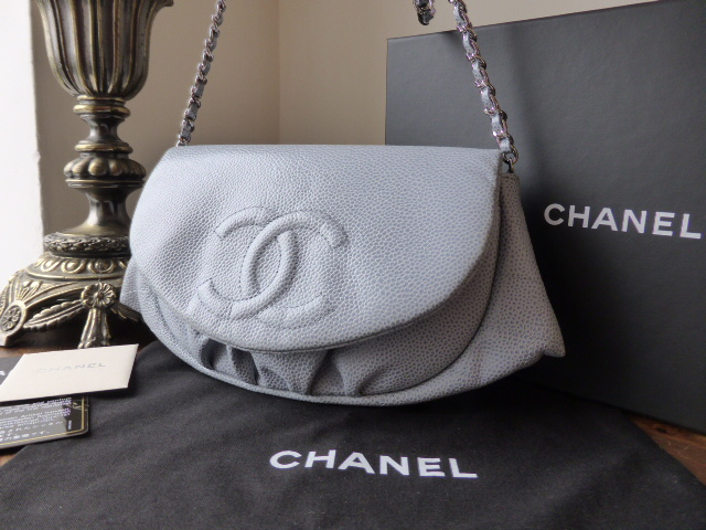 Chanel Metallic Blue 227 Mademoiselle Jumbo Flap