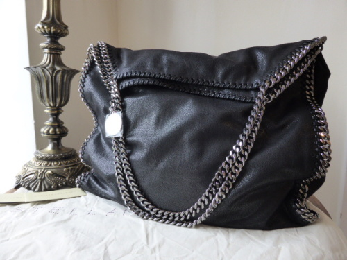 Stella McCartney Falabella Shaggy Deer Large Tote in Black - New